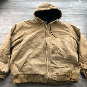 CARHARTT Tan Insulated HOODED  Brown Jacket